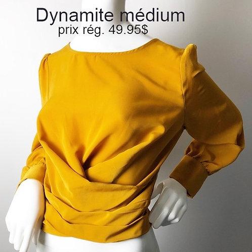 blouse jaune medium blouse Dynamite