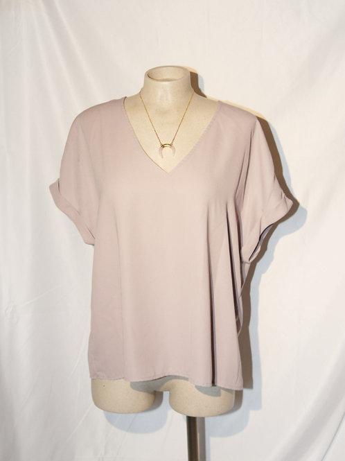 blouse soie rose pâle Shirley Jackson large
