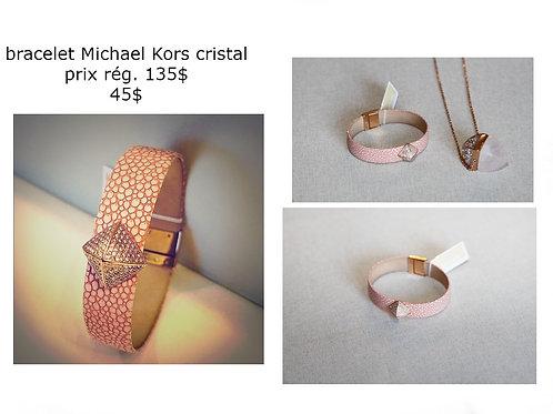 Michael Kors bracelet rose avec cristal