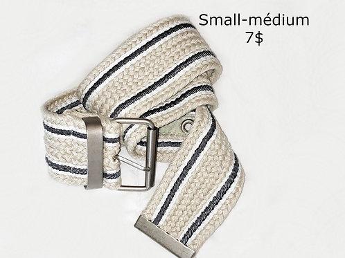 ceinture beige blanche et bleue small médium