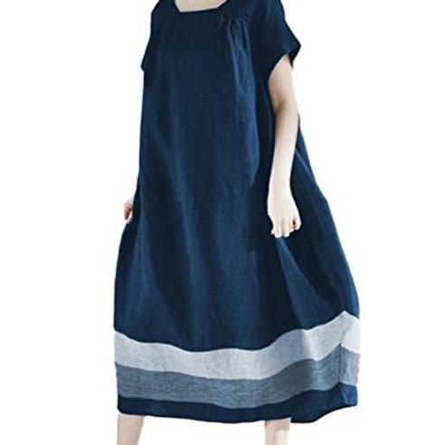 robe ample Zanzéa XL neuve bleu marine