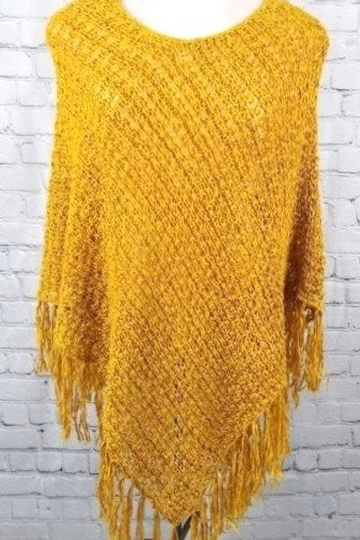 poncho jaune safran neuf