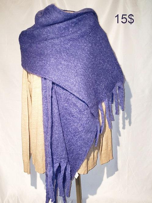 grand foulard mauve