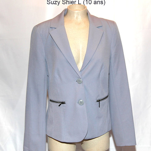 veston gris Suzy Shier large gray blazer