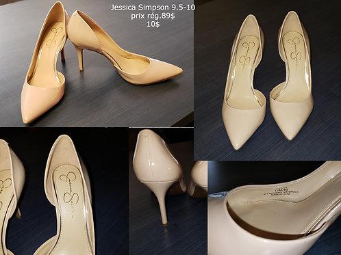 Souliers nude nu crème talons Jessica Simpson 9.5