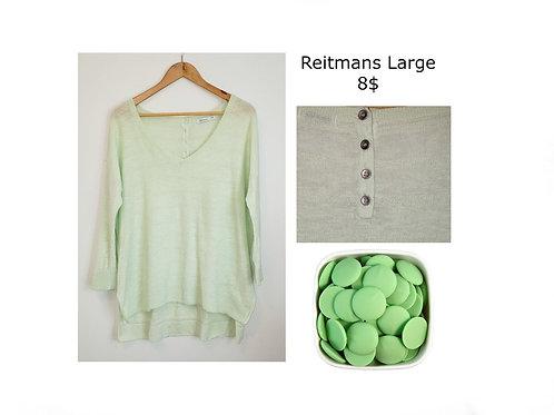 chandail vert menthe Reitmans large