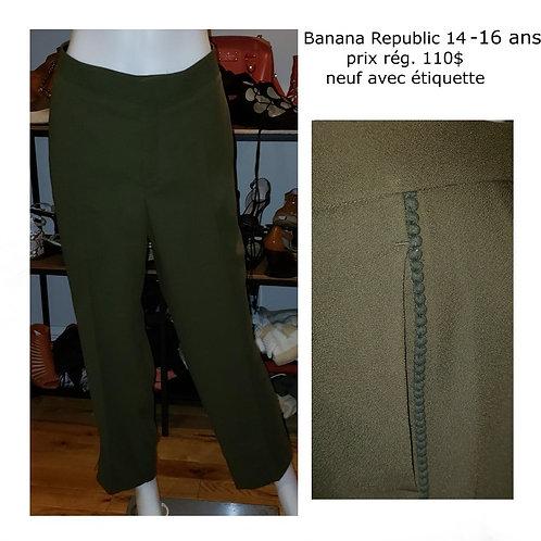 pantalons verts Banana Republic 14-16 ans