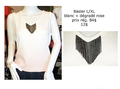 camisole blanche et rose large  xlarge Basler