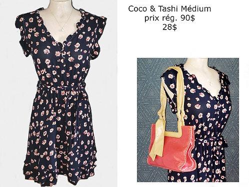 robe bleu marine fleurie Coco & Tashi medium