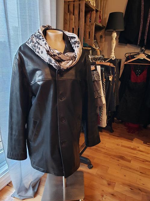 manteau cuir noir xlarge-xxlarge