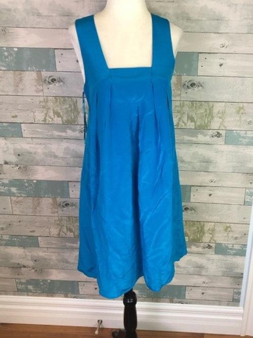 robe bleue soie small Banana Republic silk dress