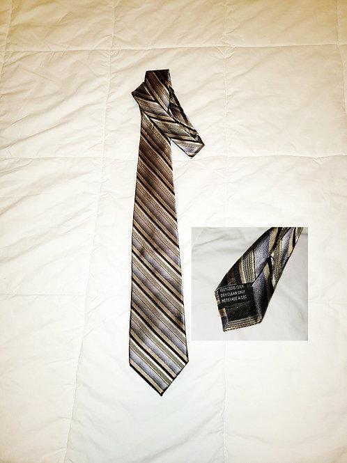 cravate soie argent gris blanc Joseph & Feiss