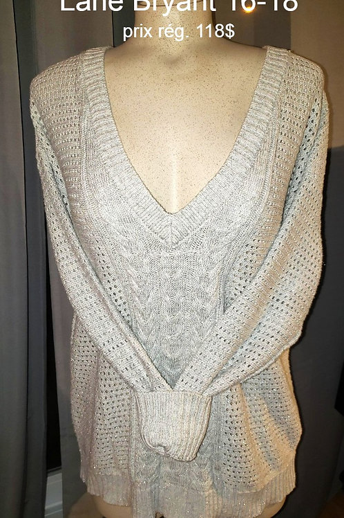 chandail tricot Lane Bryant 14/16 ans sweater