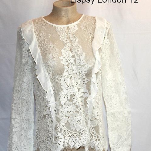 blouse dentelle Lipsy 12 ans large
