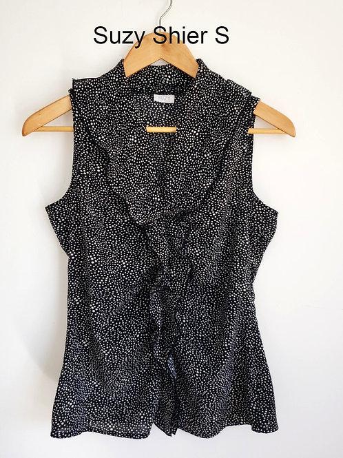 blouse pois small noir blanc Suzy Shier