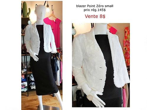 veston blanc small Point Zéro broderie