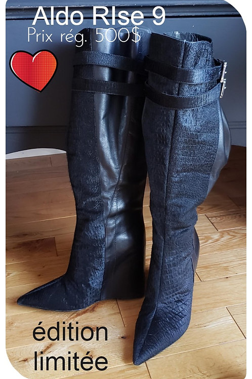 Bottes noires Aldo RIse black boots size 8.5