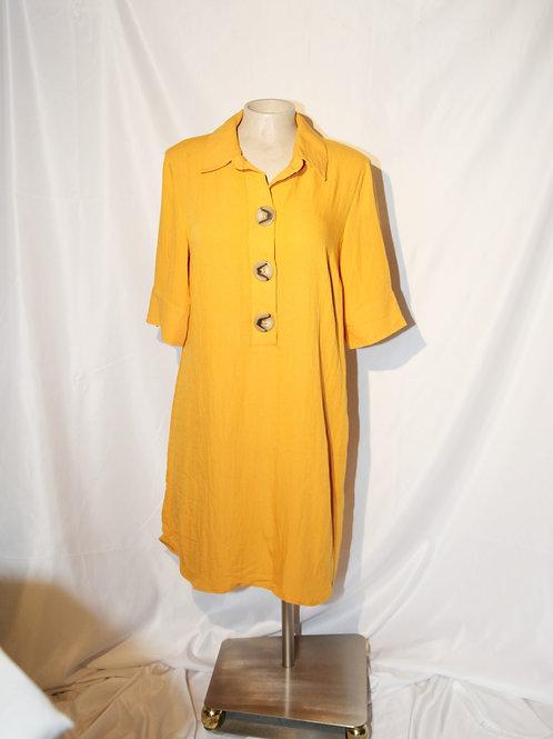 robe tunique jaune médium neuve Luxology