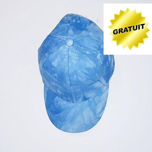 casquette tie dye bleue