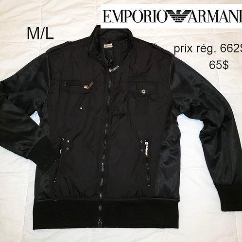 veste luxe pour homme Emporio Armani noir
