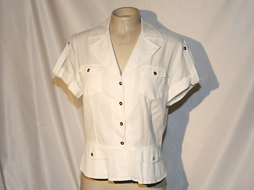 blouse chemise Jones New York médium blanc