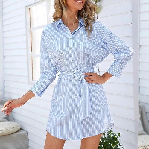 robe chemise rayée Shein Large10-12 ans