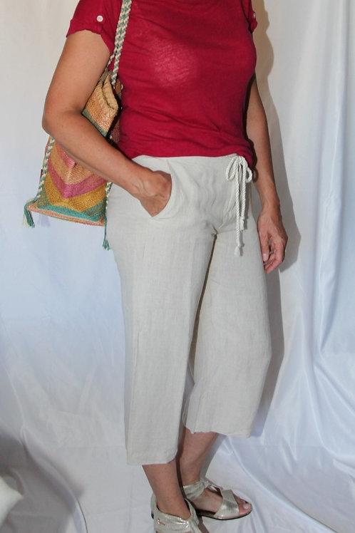pantalons lin Tommy Hilfiger 10 ans beige
