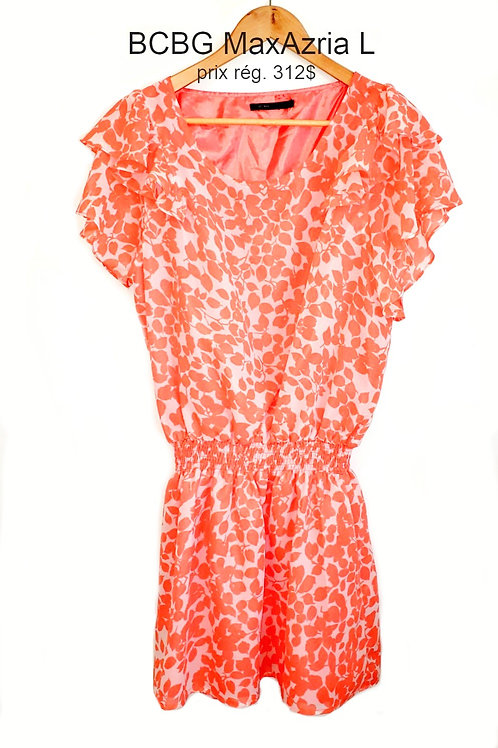 robe orange blanche BCBG MaxAzria large