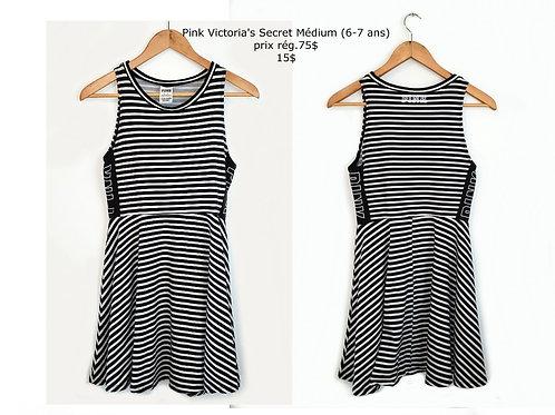 robe rayée noire et blanche Pink Victoria's Secret médium