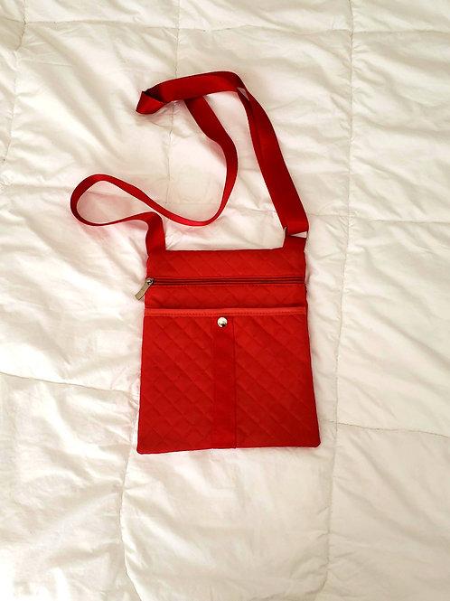 sac sacoche rouge bandoulière