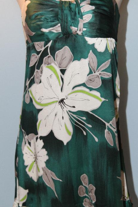robe en licou 100% soie silk dress