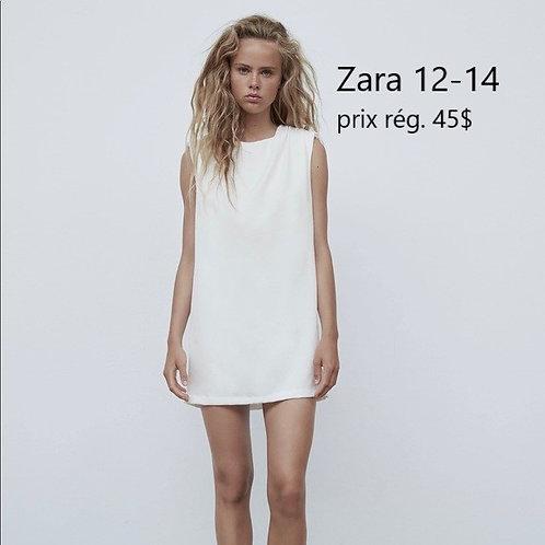 mini robe blanche Zara 12-14 ans