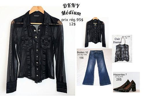 chemisier noir transparent DKNY JEANS médium
