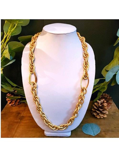 long collier maille dorées or léger