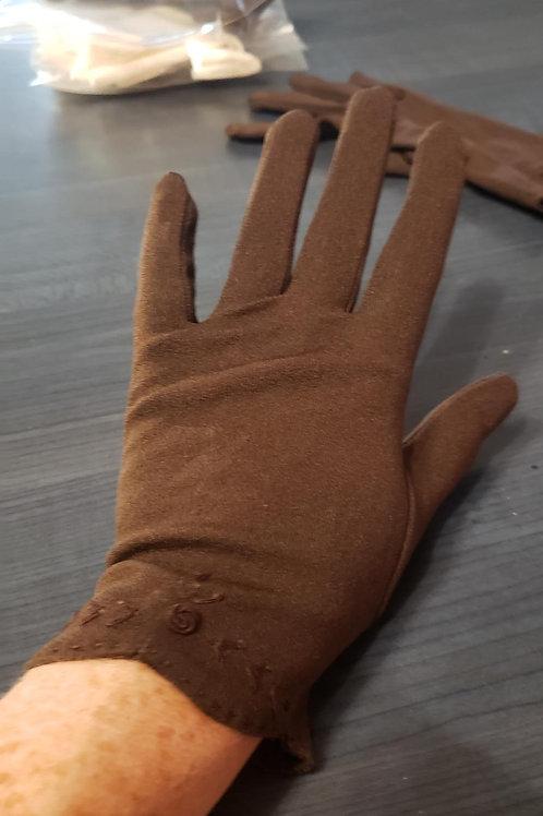 gants vintage brun nylon small