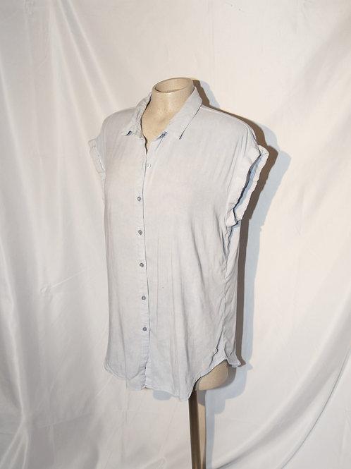 blouse chemise Point Zéro Large bleue