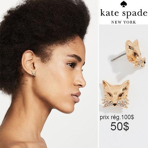 boucles d'oreilles Kate Spade renard