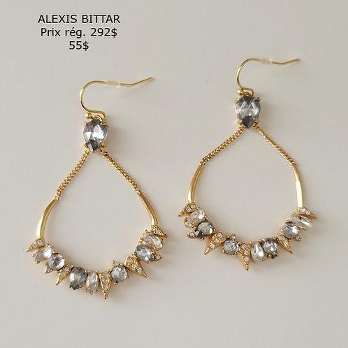 boucles d'oreilles or crystal Alexis Bittar