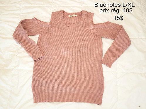 chandail rose tricot XL Bluenotes