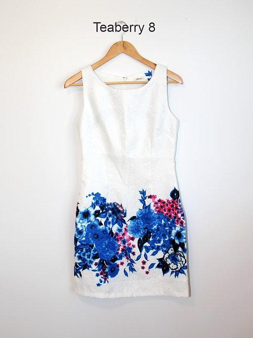 robe Teaberry 8 ans blanc, bleu
