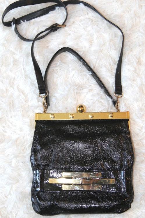 sacoche vintage cuir noir bag