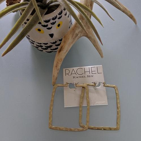 boucles d'oreilles or Rachel Roy earrings