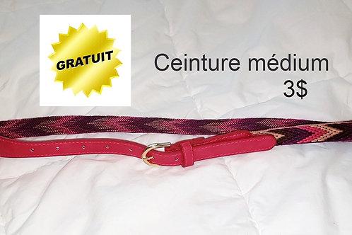ceinture vintage rose à motifs