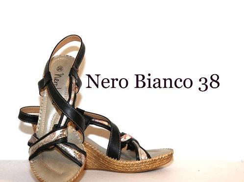Sandale Nero Bianco