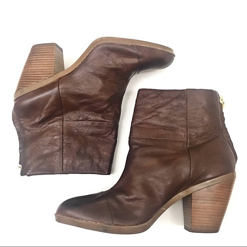 bottillons cuir brun Bandolino brown leather booties  8.5