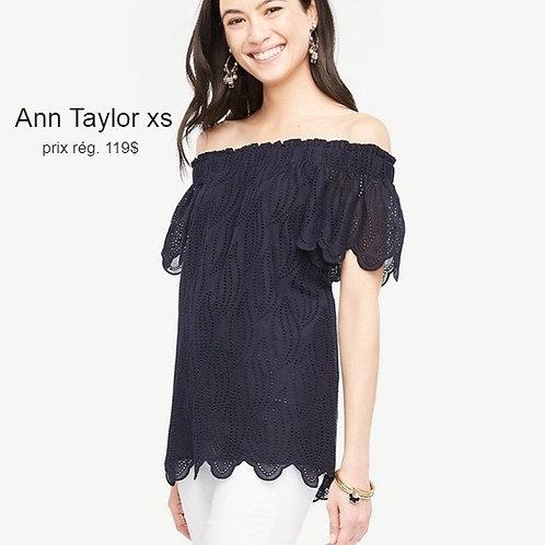 top bleu marine xsmall Ann Taylor navy blue top