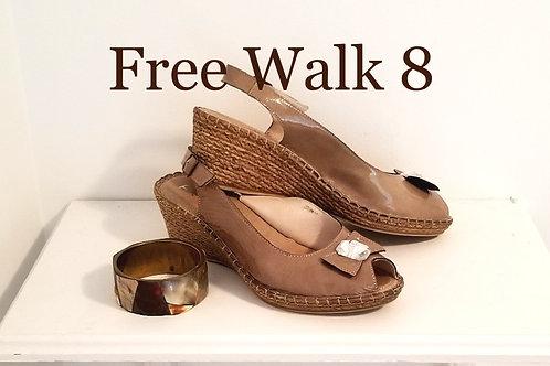 Sandale cuir verni Free Walk 8