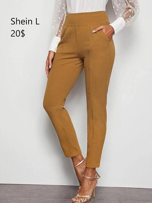 Pantalon Shein Large jaune moutarde