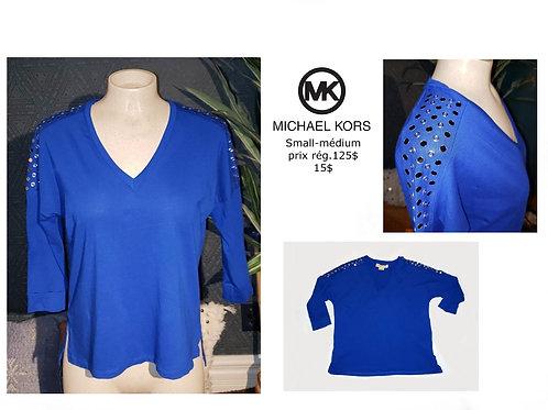 chandail Michael Kors bleu royal small médium