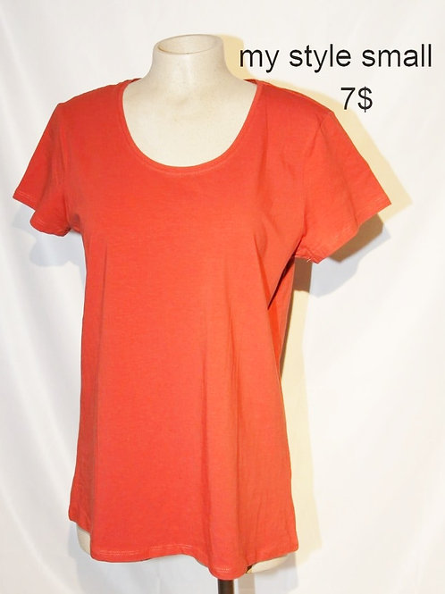 t-shirt rouille small My Style